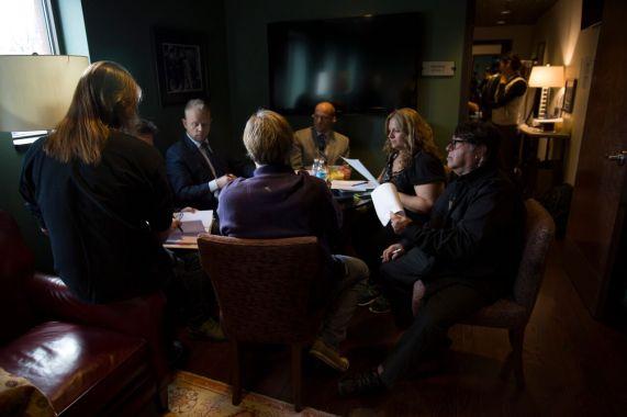 Photo Credit Dusty Draper- PreTaping Meeting