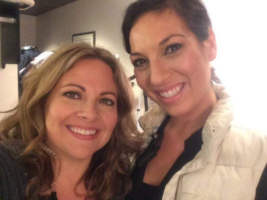 Jeanette Jolley (producer) and Melissa Fitzgerald on the Dailey & Vincent Show
