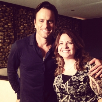 Charles Esten and Melissa Fitzgerald on the set of Nashville