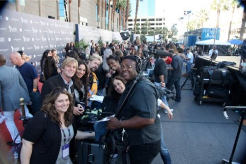 Red Carpet Crew at Academy of Country Music Awards in Las Vegas
