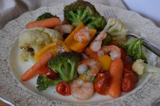 One Pan Shrimp and Veggie Bake