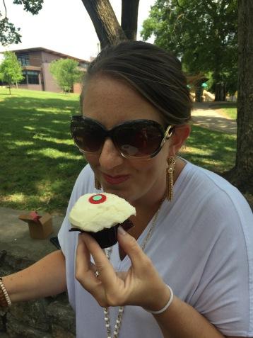 Delicious red velvet cupcake!
