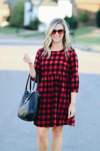 Buffalo Plaid Dress $42 Photo from Hadley Rae Boutique