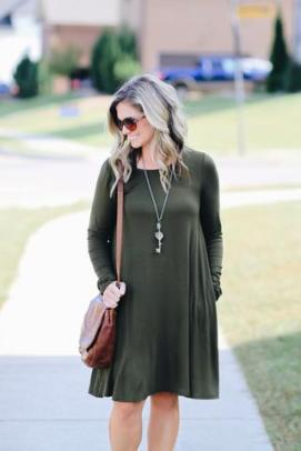 Casual Friday Dress in Olive $34 Photo from Hadley Rae Boutique